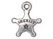 10 - TierraCast Pewter CHARM Sheriff' s Badge Antique Silver Plated