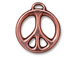 5 - TierraCast Pewter CHARM Peace Sign, Antique Copper Finish