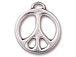 5 - TierraCast Pewter CHARM Peace Sign, Bright Rhodium Plated