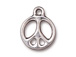 10 - TierraCast Pewter CHARM Peace Sign, Bright Rhodium Plated