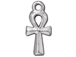 10 - TierraCast Pewter Bright Rhodium Plated Ankh Charm