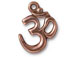 5 - TierraCast Pewter Pendant Om Ohm Copper Plated