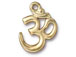 100 - TierraCast Pewter Pendant Om Ohm Gold Plated Bulk Pack of 100