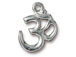 5 - TierraCast Pewter Pendant Om Ohm Bright Rhodium Plated