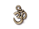 10 - TierraCast Pewter Pendant Om Ohm Oxidized Brass Plated