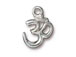 10 - TierraCast Pewter Pendant Om Ohm Bright Rhodium Plated