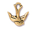10 - TierraCast Pewter CHARM Swallow, Antique Gold Plated