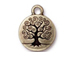 10 - TierraCast Pewter Tree of Life Drop, Oxidized Brass