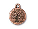 10 - TierraCast Pewter  Tree Of Life Drop, Antique Copper Plated
