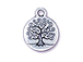 10 - TierraCast Pewter Tree Of Life Drop, Antique Silver Plated