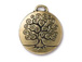 5 - TierraCast Pewter Pendant Tree of Life Antique Gold Plated
