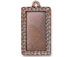 5 - TierraCast Pewter Pendant Rectangle Frame Antique Copper Plated