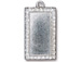 5 - TierraCast Pewter Pendant Rectangle Frame Bright Rhodium Plated