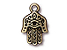 10 - TierraCast Pewter CHARM Hamsa Oxidized Brass