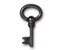 10 - TierraCast Pewter DROP Oval Key, Black Finish