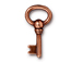 10 - TierraCast Pewter DROP Oval Key, Antique Copper Plated