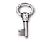 10 - TierraCast Pewter DROP Oval Key, Antique Silver Plated