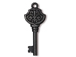 5 - TierraCast Pewter DROP Victorian Key, Black Finish