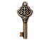 5 - TierraCast Pewter DROP Victorian Key, Oxidized Brass Finish