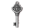 5 - TierraCast Pewter DROP Victorian Key, Antique Silver Plated