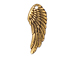 5 - TierraCast Pewter DROP Wing, Antique Gold Plated
