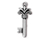 5 - TierraCast Pewter DROP Fleur Key, Antique Silver Plated