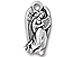 10 - TierraCast Pewter CHARM Angel, Antique Silver Plated