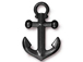 5 - TierraCast Pewter  Black Finish Anchor Pendant