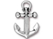 5 - TierraCast Pewter  Antique Silver Plated Anchor Pendant