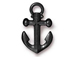 10 - TierraCast Pewter  Black Finish Anchor Charm