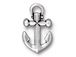 10 - TierraCast Pewter  Antique Silver Plated Anchor Charm
