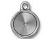 10 - TierraCast Pewter 11mm Rivoli Setting or Drop, Faceted Round Frame Antique Pewter Finish