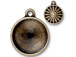 5 - TierraCast Pewter 18mm Rivoli Settings or Holders, Faceted Round Frame Oxidized Brass