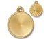 5 - TierraCast Pewter 18mm Rivoli Settings or Holders, Faceted Round Frame Bright Gold Plated