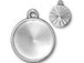 5 - TierraCast Pewter 18mm Rivoli Settings or Holders, Faceted Round Frame Bright Rhodium Plated