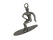 Pewter Surfer Charm