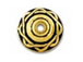 20 - TierraCast Pewter BEAD CAP Celtic Antique Gold Plated