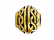 20 - TierraCast Pewter BEAD Braided Design Large Hole Spacer, Antique Gold Plated