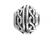 20 - TierraCast Pewter BEAD Braided Design Large Hole Spacer, Antique Silver Plated
