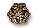 20 - TierraCast Pewter BEAD CAP  Jasmine Oxidized Brass