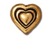 20 - TierraCast Pewter Antique Gold Plated Heart Bead