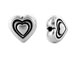 20 - TierraCast Pewter Antique Silver Plated Heart Bead
