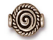 20 - TierraCast Pewter BEAD  Fancy Spiral Antique Silver Plated