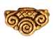 20 - TierraCast Pewter BEAD CAP Mirage , Antique Gold Plated