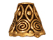 20 - TierraCast Pewter CONE Spiral, Antique Gold Plated
