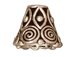 20 - TierraCast Pewter CONE Spiral, Antique Silver Plated