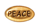 20 - TierraCast Pewter PEACE Message Bead, Antique Gold Plated