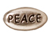 20 - TierraCast Pewter PEACE Message Bead, Antique Rhodium Plated