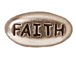 20 - TierraCast Pewter FAITH Message Bead, Antique Rhodium Plated