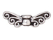 20 - TierraCast Pewter BEAD Fairy Wings, Antique Silver Plated